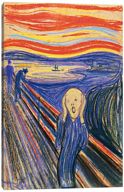 The Scream, 1895 (Pastel On Cradboard) Canvas Art Print