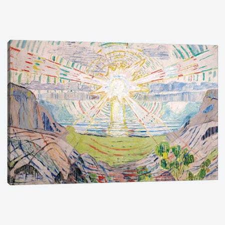 The Sun, 1916 #2 Canvas Print #15284} by Edvard Munch Art Print
