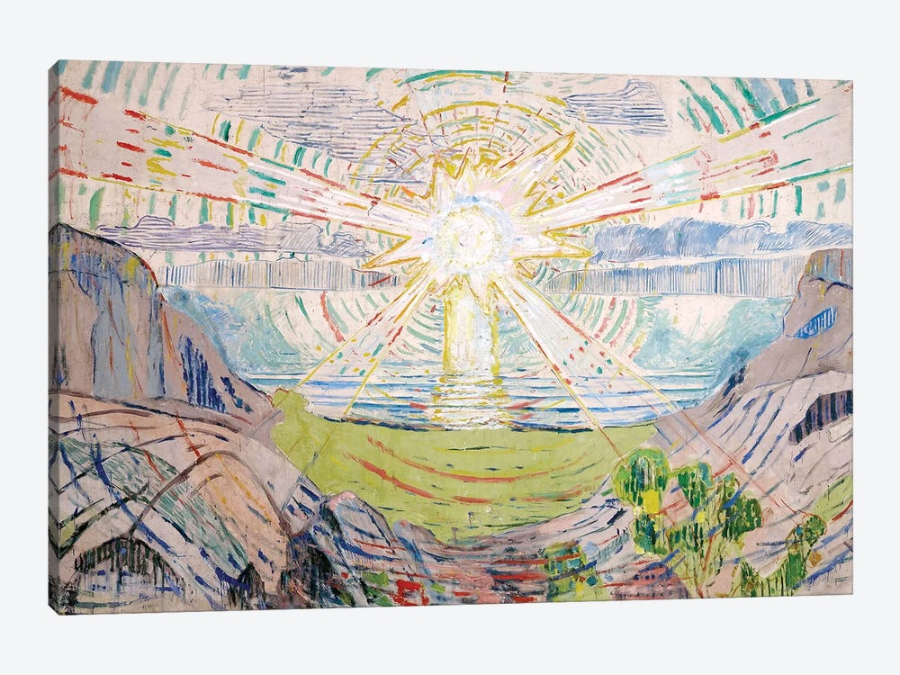 The Sun, 1916 #2 by Edvard Munch 1-piece Canvas Art Print