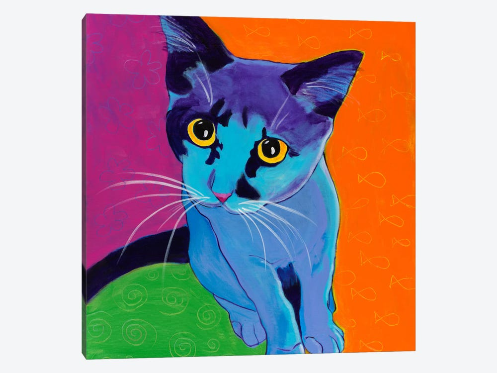 Kitten Blue by DawgArt 1-piece Canvas Artwork