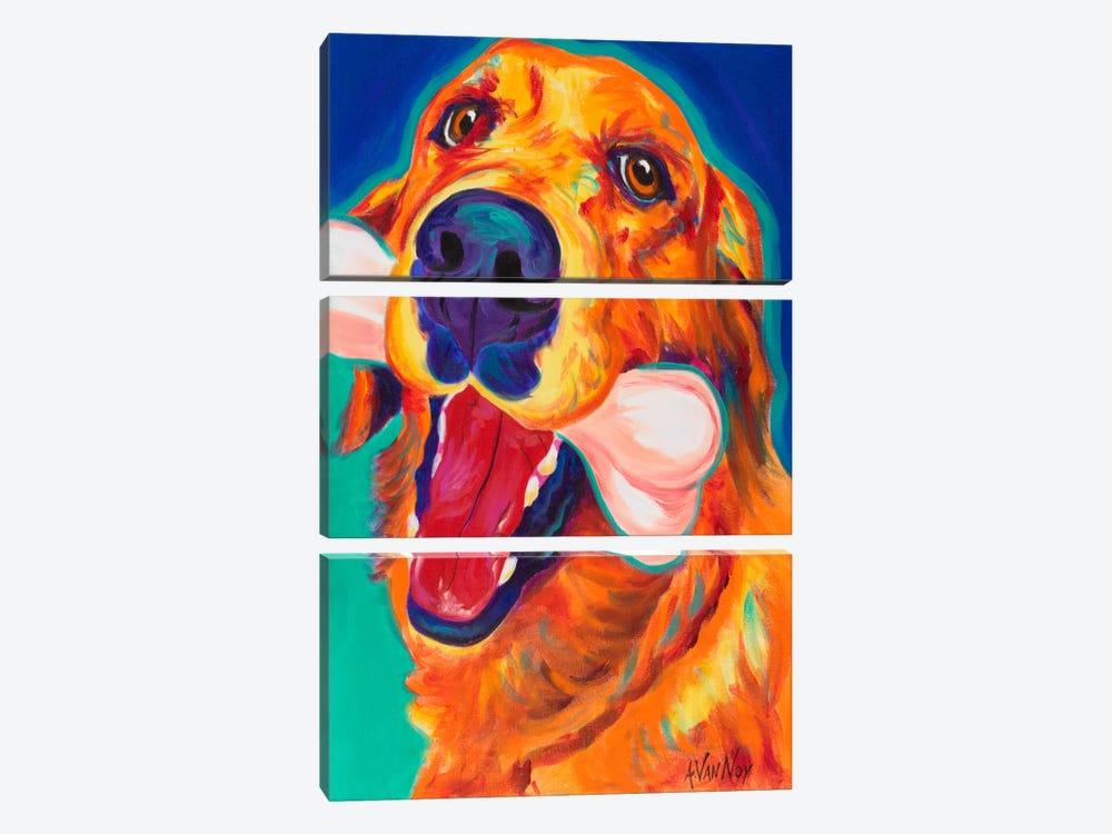 My Favorite Bone by DawgArt 3-piece Canvas Art Print