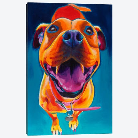 Pittie Party Canvas Print #15293} by DawgArt Art Print