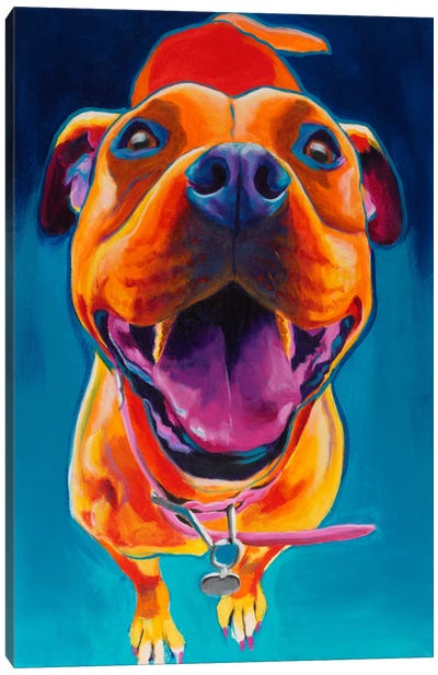 Pittie Party Canvas Art Print