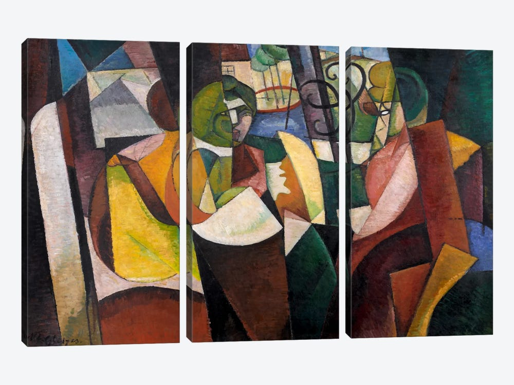 Metzinger, Cubism and After by Albert Gleizes 3-piece Canvas Print