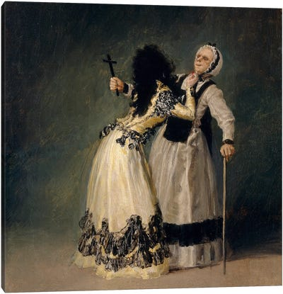 The Dutches of Alba And La Beata, 1795 Canvas Art Print