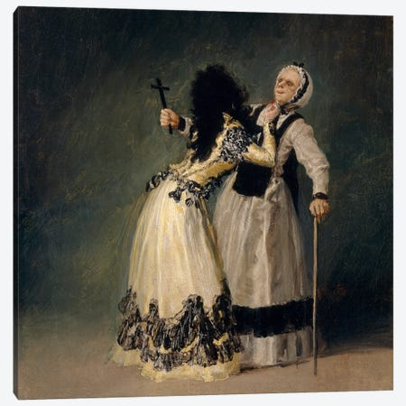 The Dutches of Alba And La Beata, 1795 Canvas Print #15333} by Francisco Goya Canvas Artwork
