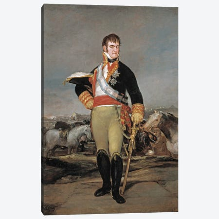 Ferdinand VII of Spain, 1814 Canvas Print #15339} by Francisco Goya Canvas Art