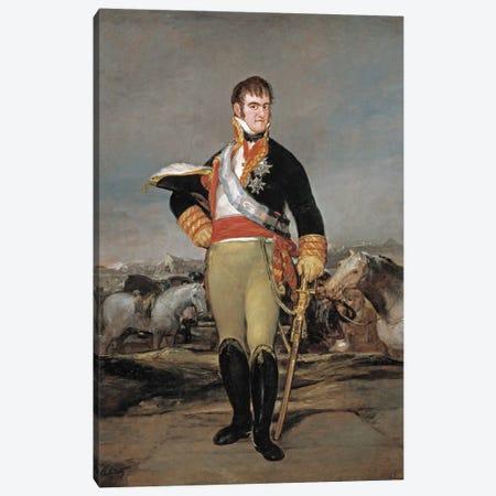 Ferdinand VII of Spain, 1814 Canvas Print #15339} by Francisco Goya Canvas Art