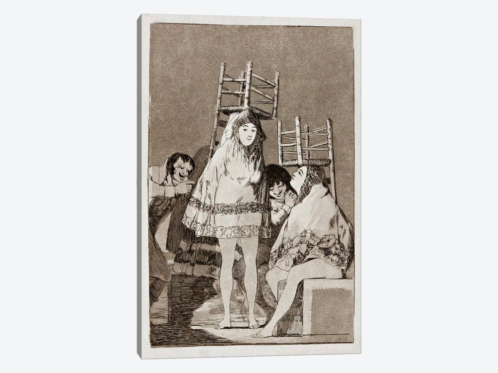 Los Caprichos: They've already got a Seat, Plate 26 by Francisco Goya 1-piece Canvas Artwork