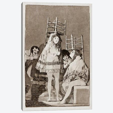 Los Caprichos: They've already got a Seat, Plate 26 Canvas Print #15346} by Francisco Goya Canvas Artwork