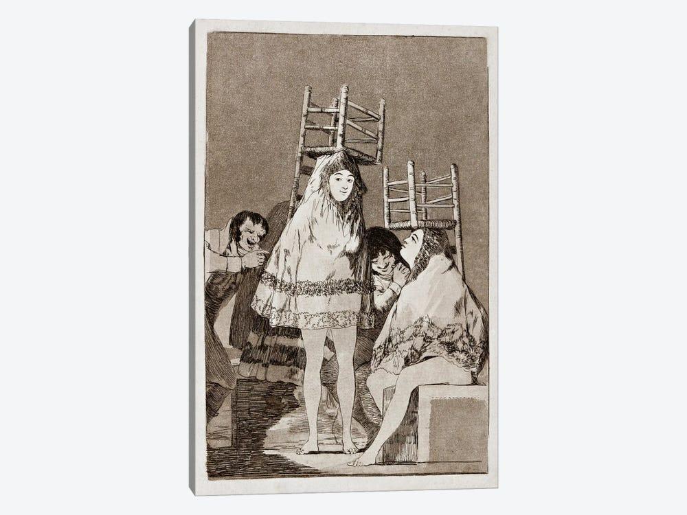 Los Caprichos: They've already got a Seat, Plate 26 by Francisco Goya 1-piece Canvas Artwork