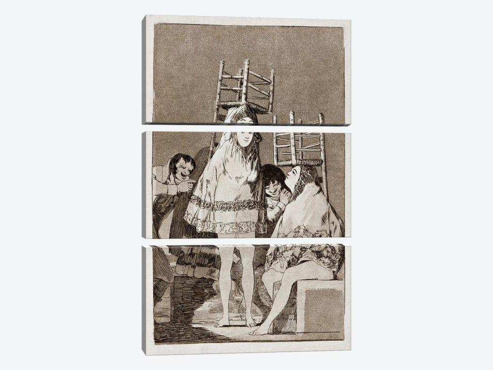 Los Caprichos: They've already got a Seat, Plate 26 by Francisco Goya 3-piece Canvas Wall Art