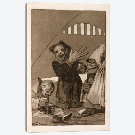 Los Caprichos:Duendecitos (Elves), Plate 49,1799 Canvas Print #15349} by Francisco Goya Art Print