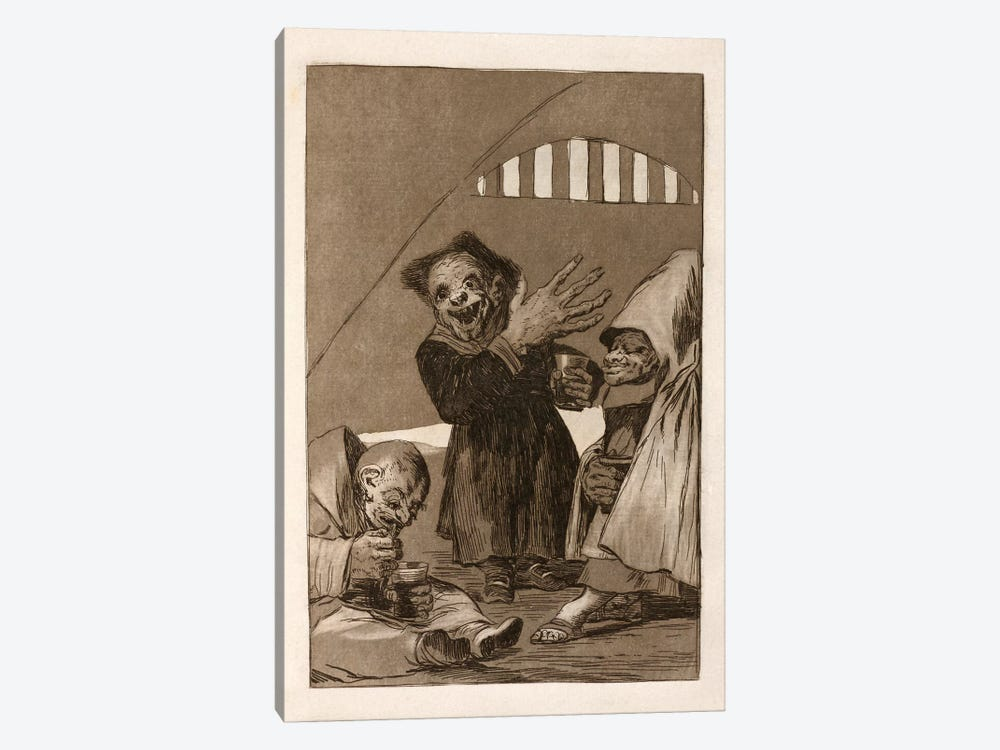Los Caprichos:Duendecitos (Elves), Plate 49,1799 by Francisco Goya 1-piece Art Print