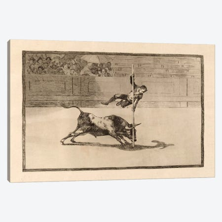 The Agility and Audacity of Juanito Apinani in the Ring at Madrid Canvas Print #15351} by Francisco Goya Canvas Art