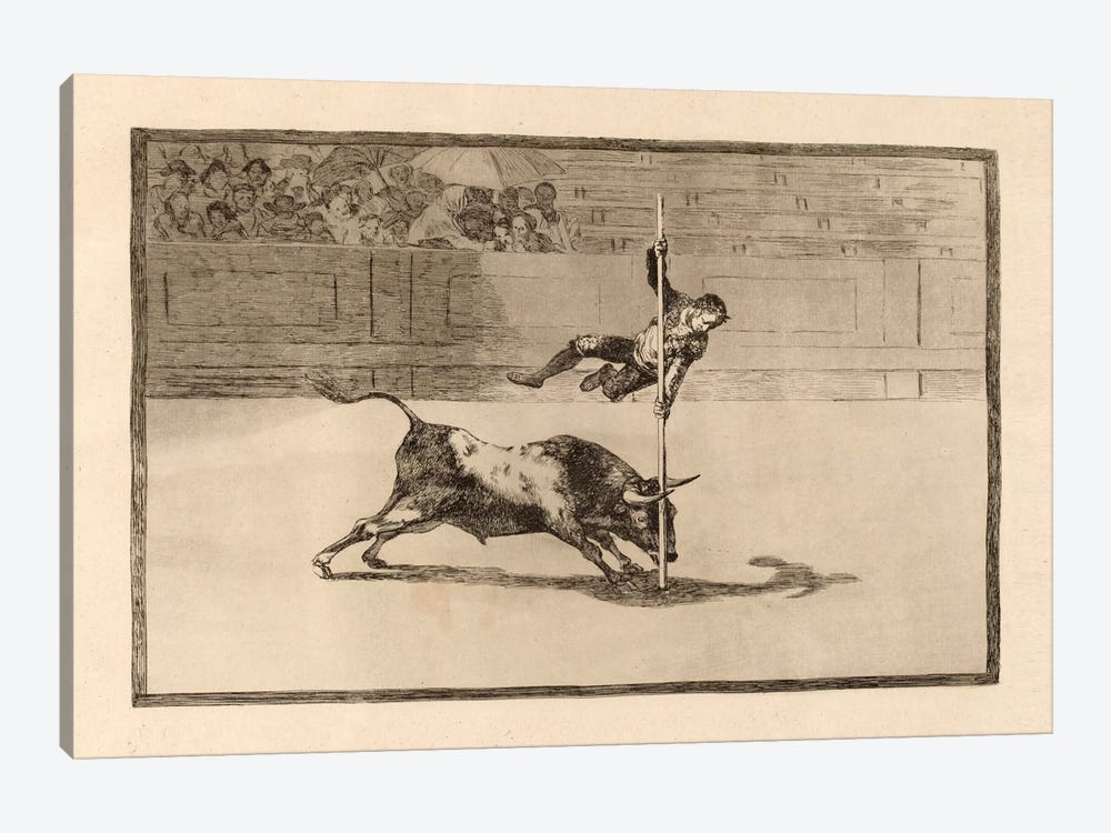 The Agility and Audacity of Juanito Apinani in the Ring at Madrid by Francisco Goya 1-piece Canvas Art