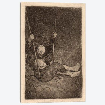 Old Man on a Swing Canvas Print #15353} by Francisco Goya Canvas Wall Art