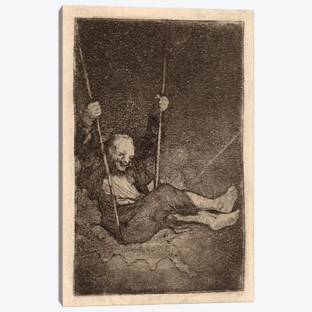 Old Man on a Swing Canvas Print #15353} by Francisco Goya Canvas Wall Art