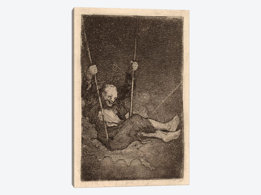 Old Man on a Swing by Francisco Goya 1-piece Canvas Wall Art