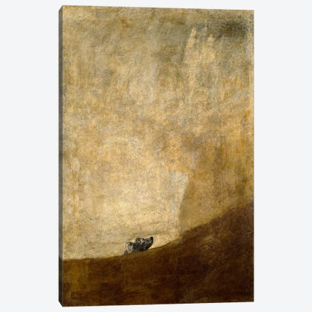The Dog, 1823 Canvas Print #15354} by Francisco Goya Art Print