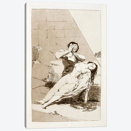 Los Caprichos:Tantalo, Plate 9 Canvas Print #15357} by Francisco Goya Canvas Print