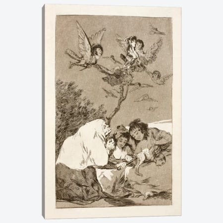 Los Caprichos: Everyone Will Fall, Plate 19 3-Piece Canvas #15358} by Francisco Goya Canvas Art
