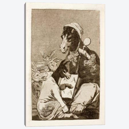 Los Caprichos: Might Not the Pupil Know More?, Plate 37 Canvas Print #15359} by Francisco Goya Canvas Artwork