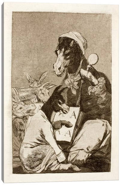 Los Caprichos: Might Not the Pupil Know More?, Plate 37 Canvas Art Print