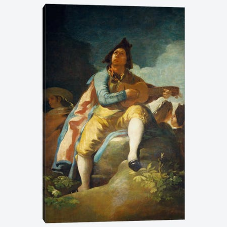 El Majo de la Guitarra, 1779 Canvas Print #15362} by Francisco Goya Art Print
