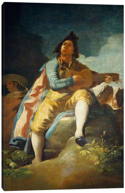El Majo de la Guitarra, 1779 Canvas Print #15362