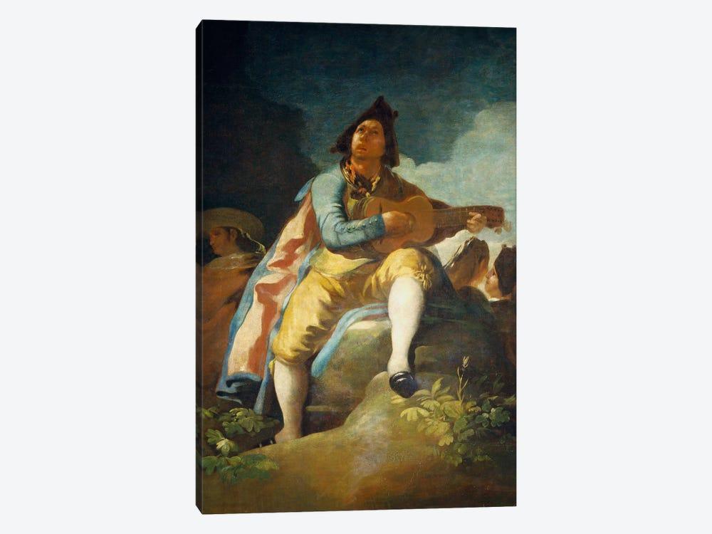 El Majo de la Guitarra, 1779 by Francisco Goya 1-piece Canvas Wall Art