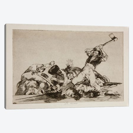 The Disasters of War: The Same Thing, Plate 3 Canvas Print #15363} by Francisco Goya Art Print