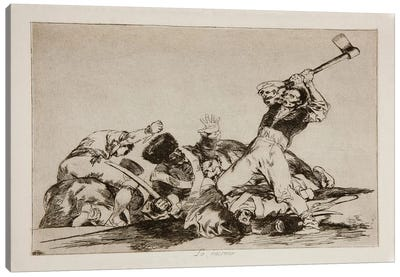 The Disasters of War: The Same Thing, Plate 3 Canvas Art Print