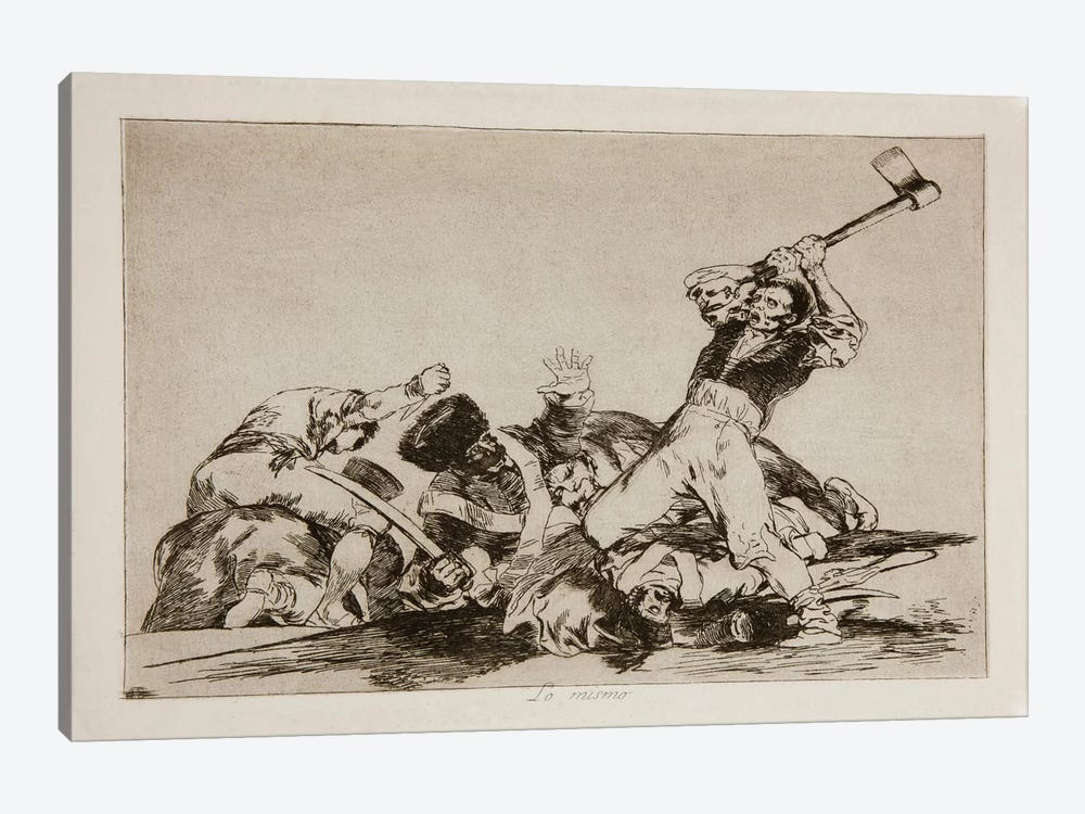 The Disasters of War: The Same Thing, Plate 3 by Francisco Goya 1-piece Canvas Art Print