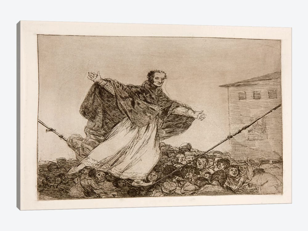 The Disasters of War: Look the Rope is Breaking, Plate 77 by Francisco Goya 1-piece Canvas Wall Art