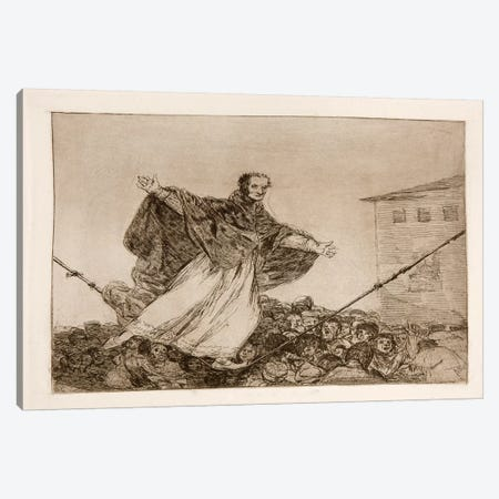 The Disasters of War: Look the Rope is Breaking, Plate 77 Canvas Print #15364} by Francisco Goya Canvas Artwork