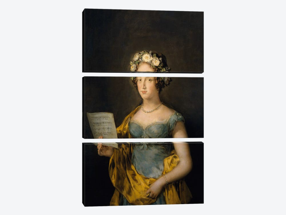 Duchess of Abrantes, 1838 by Francisco Goya 3-piece Canvas Print