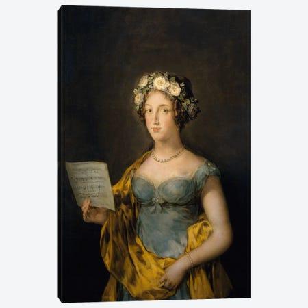 Duchess of Abrantes, 1838 Canvas Print #15367} by Francisco Goya Canvas Art