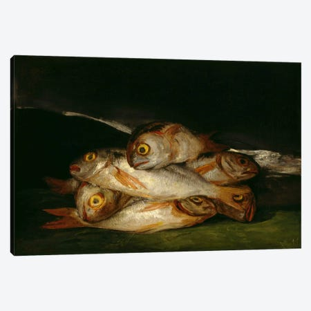 Still Life with Golden Bream, 1812 Canvas Print #15368} by Francisco Goya Art Print