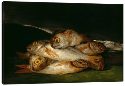 Still Life with Golden Bream, 1812 Canvas Art Print
