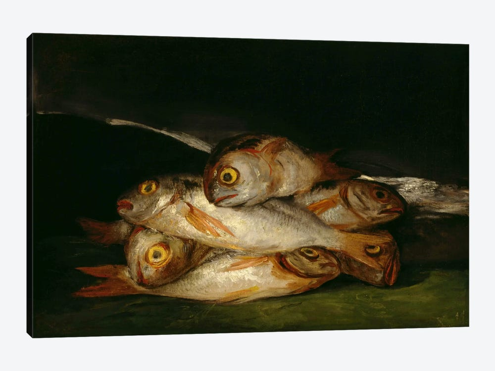 Still Life with Golden Bream, 1812 by Francisco Goya 1-piece Canvas Art
