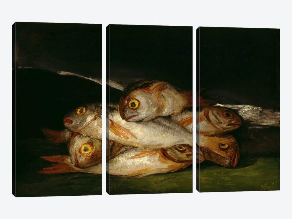 Still Life with Golden Bream, 1812 3-piece Canvas Artwork