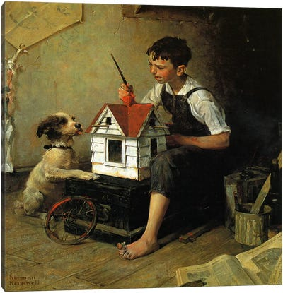 Paniting The Little House Canvas Print #1536