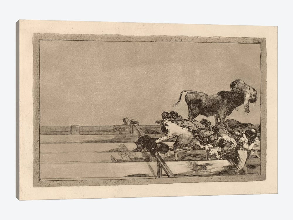 Dreadful Events in the Front Rows of the Ring at Madrid and Death of the Mayor of Torrejon by Francisco Goya 1-piece Art Print