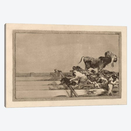 Dreadful Events in the Front Rows of the Ring at Madrid and Death of the Mayor of Torrejon 3-Piece Canvas #15370} by Francisco Goya Canvas Art