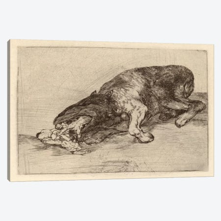 Fierce Monster, 1820 Canvas Print #15371} by Francisco Goya Canvas Artwork
