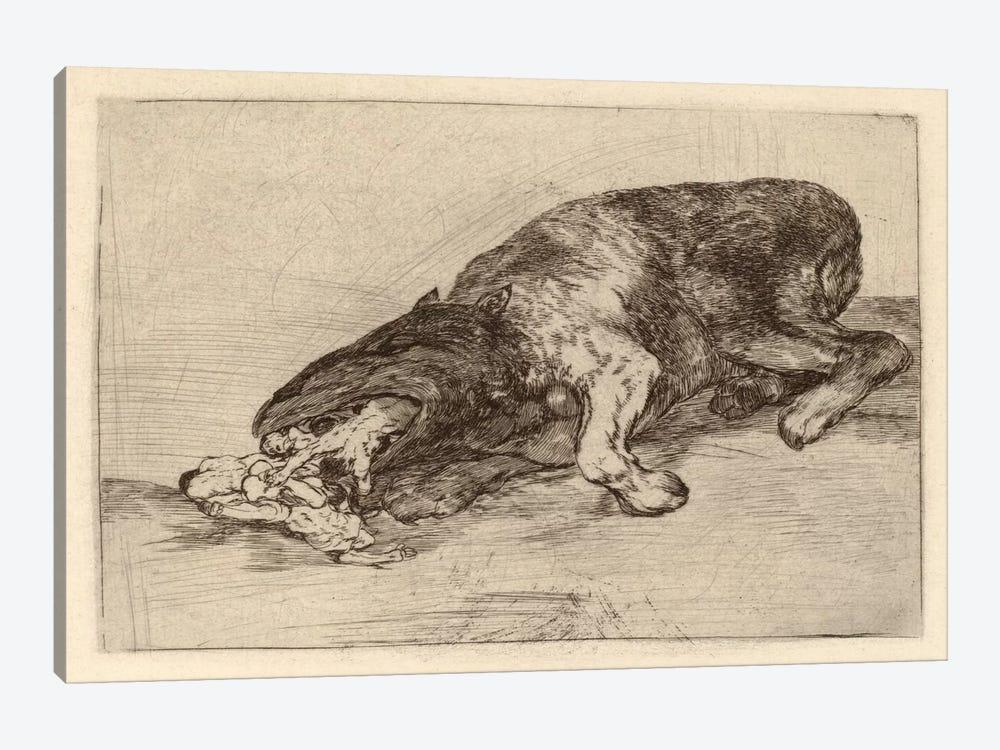Fierce Monster, 1820 by Francisco Goya 1-piece Canvas Artwork