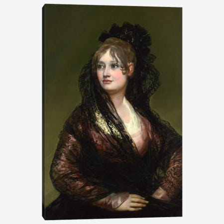 Portrait of Dona Isabel de Porcel Canvas Print #15372} by Francisco Goya Canvas Artwork