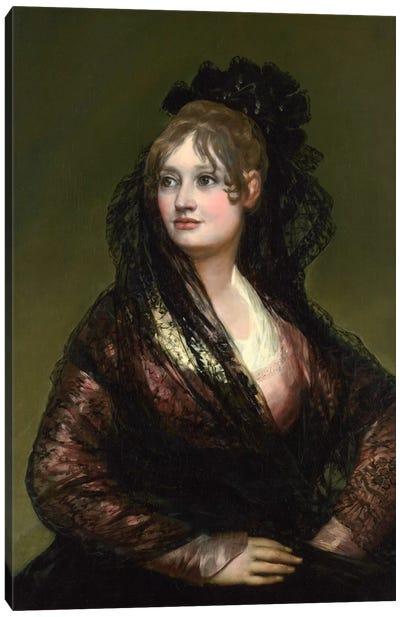 Portrait of Dona Isabel de Porcel Canvas Art Print