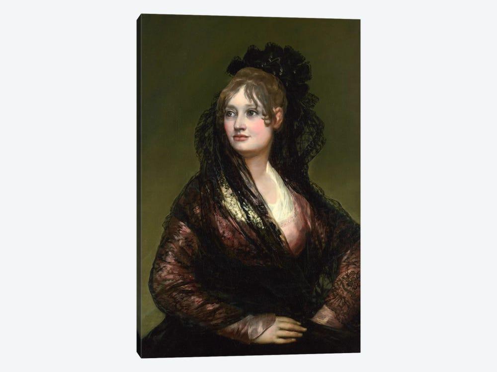 Portrait of Dona Isabel de Porcel by Francisco Goya 1-piece Canvas Art Print